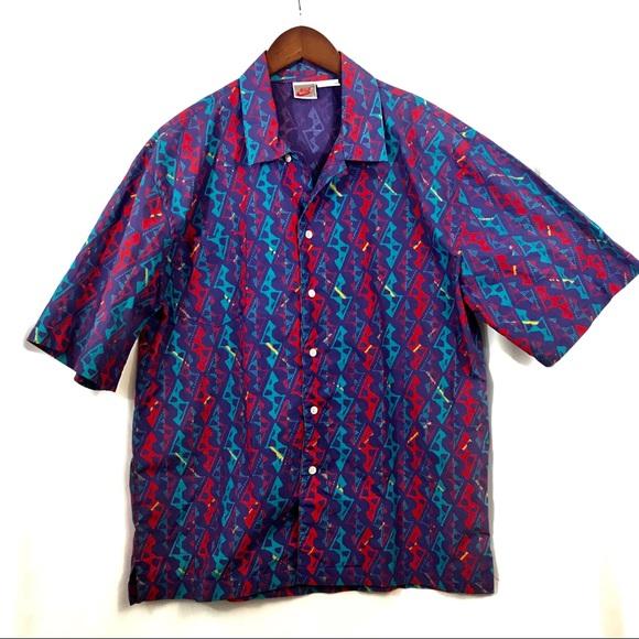 5e36f67c Vintage Nike 90s Streetwear Button Down Shirt. M_5b35177203087c893244577a